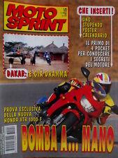 Motosprint 1/2 1997 Poster calendario. Dakar: è già dramma. Honda VTR 1000 F