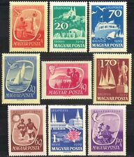 Hungary 1959 Tourism/Boats/Sports/Angling/Wine/Buildings/Transport 9v set n40370