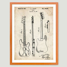 Patent Print 18x24 Poster Fender 51 P Bass Guitar Vintage Repro New (unframed)