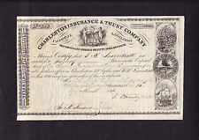 SLAVERY: CHARLESTON (SLAVE TRADERS) INSURANCE and TRUST Co. 1846 - NOT CANCELLED