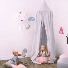Kids Baby Ruffle Canopy Bedcover Mosquito Net Princess Dome Bedding play Tent