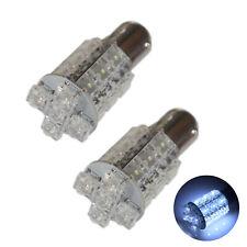 2x Cool White 20 LED BA15D 1142 12v Car Light Bulbs