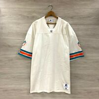 Vintage 90s Miami Dolphins NFL Starter Authentic Blank White Away Jersey Sz 52