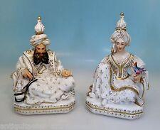 Paar signierte Jacob Petit Flakons, Araberszene, Sultan & Sultana, um 1840