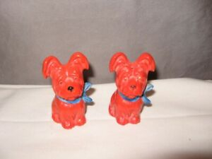 "Set of Red Dog Salt & Pepper Shakers  2 1/2"" Height Germany VGC"
