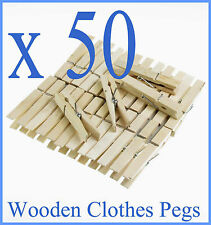 50  x Wooden Spring Pegs Strong  , not mini  Peg,Washing Line Wood FROM SYD