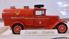 Solido Citroen Citerne Madison F.D. in Red 1:43 Loose Car, Beautiful Condition!