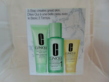 Clinique Paso 3 cuidado de la piel NO1-Limpiador/tóner/crema hidratante en caja