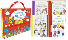 Usborne Starting School Wipe-Clean Activity Pack: Telling Time,First Words,Math+