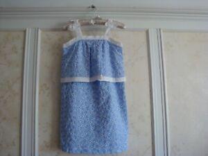 NWT Janie And Jack Girls Eyelet Dress 10  Sky Blue