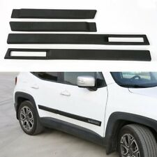 4x ABS Body Side Door Protector Cover Trim Molding For Jeep Renegade 2015-2018