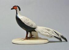Gotha, Porzellanfabrik Ilse Pfeffer, Silberfasan, Modell-Nr. 4241, Länge 14 cm