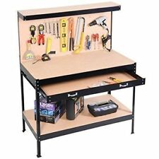 garage storage workbench workshop table work bench tool w storage drawer steel - Rolling Workbench