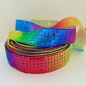 YARD RAINBOW SEQUIN  RIBBON