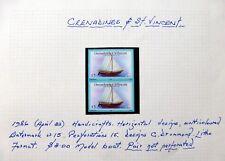St VINCENT GRENADINES 1986 $3 Ship Imperf Pair Error Variety U/M NC1283