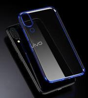 For VIVO V11 / V11 Pro, Hybrid Transparent Plating Soft Clear TPU Case Cover