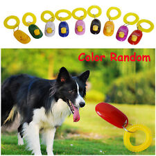 Random Colorful PVC Plastic Elasticity Pet Training Wristband Button Dog Whistle