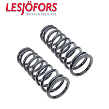 Mercedes W126 300SD Set of 2 Rear Left and Right Coil Springs Lesjofors 4256804