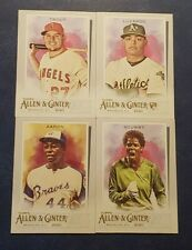2020 Topps Allen and Ginter Veteran and Rookie Base Cards 1-250 Trout Judge