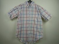 Vintage Mens Brooks Brothers Medium White Check S/S Button Front Shirt USA Made
