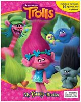 Trolls My Busy Book Includes 12 Figures + Play Mat Brand New