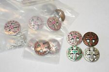 Wholesale Lot 100 Pieces Enmon Rhinestone Cross Concho Leather Silver Belt