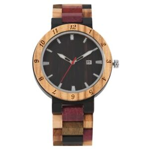 Natural Multi Color Mens Full Wooden Watch Wood Watch Men Relogio Masculino