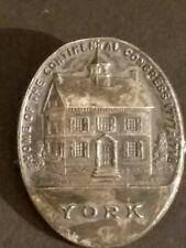 Vintage York Home Of The Continental Congress 1777-1778 Anstecknadel Brosche