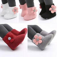 Newborn Infant Baby Girls Keep Warm Winter Plush Soft Snow Boots Soft Crib Shoes