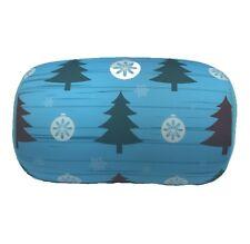 Christmas Tree Print Micro Bead Tube Cushion Lumbar Roll Couch Bed Throw Pillow