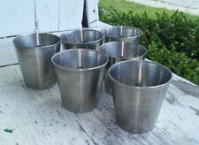 6 Vollrath Stainless Steel Shotglass