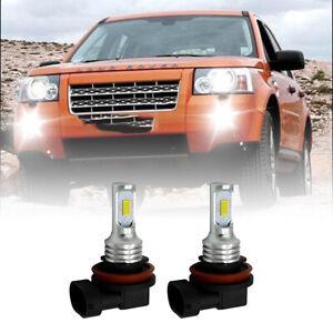 FOR Freelander 2 Land Rover Premium White 2006-14 LED H11 Fog Light Bulbs