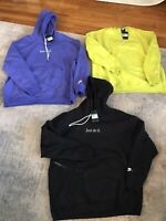 Nike Mens Just Do It Heavyweight Hoodie Sweatshirt Rush Violet Size XL