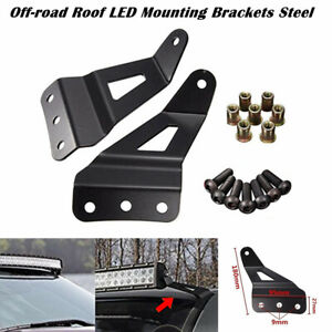 Refit Off-road Car Windshield Mounting Brackets Roof LED Light Strip Bracket