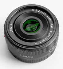 Panasonic Lumix G 14mm f/2.5 Aspherical AF Lens Black