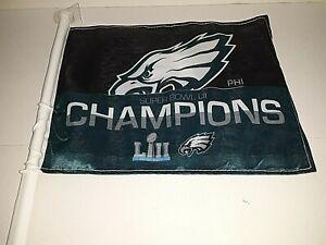 Philadelphia Eagles NFL Super Bowl LII Car Flag ( set of two )