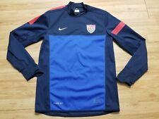 Nike Dri Fit Team USA Soccer USMNT Blue Long Sleeve Sweater Mens Medium