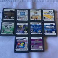 Lot 10 Nintendo DS Games Puzzles Namco Brain Deal Jeopardy Touch I Spy Jewel