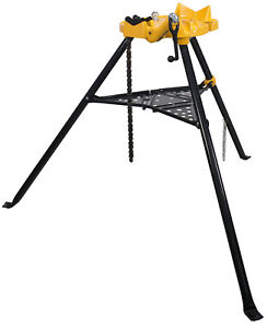 """Steel Dragon Tools® 72037 6"""" Tripod Pipe Chain Vise Stand Model 460 12R 300 700"""