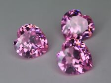CZ Pink 6x6mm 8x8mm 10x10mm Heart Cut Loose AAA Cubic Zirconia Gemstone