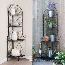 New listing Black Metal Folding Indoor/Outdoor Baker's Rack Home Living Kitchen Furniture