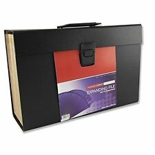 Foolscap File Case Stationery Carry DEPOT Expanding File With 19 Pocket Black