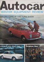 Autocar magazine 11/11/1966 featuring Lancia Flavia Coupe road test, Bond cars