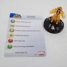 Heroclix Avengers Assemble set Firebird #011 Common figure w/card!