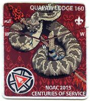 Boy Scout Quapaw Lodge 160 2015 OA Centennial NOAC Set Quapaw Area Council
