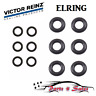 6 Lower + 6 Upper 12 Rubber O-Ring Kit Fuel Injector Nozzle Seal Set for BMW NEW