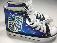 Sneakers / Attack on Titan Cosplay Sneakers Gold Freedom Wings Black
