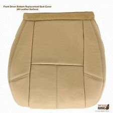 2013 Chevy Avalanche LTZ Driver Bottom Replacement Leather Seat Cover Tan