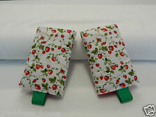 Baby Carrier Dribble Drool Pads Suits Most Carriers + Ergo - Retro Strawberries