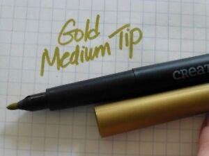 NEW Creative Memories Medium Tip GOLD Metallic Pen Marker Craft Scrapbook Card